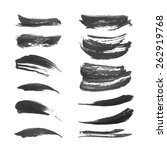 black ink strokes set 2 3 | Shutterstock .eps vector #262919768