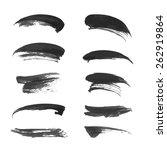 black ink strokes set 2 4 | Shutterstock .eps vector #262919864