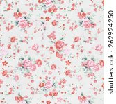 rose fabric background ... | Shutterstock . vector #262924250