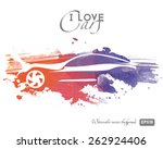 watercolor vector car | Shutterstock .eps vector #262924406