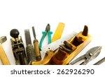 old working tools. vintage... | Shutterstock . vector #262926290