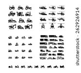 Set Icons Of Transport....