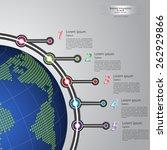 vector timeline template ... | Shutterstock .eps vector #262929866