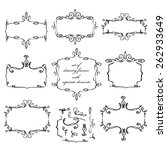 set of drawing frames. with... | Shutterstock .eps vector #262933649