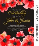 stylish wedding invitation with ... | Shutterstock .eps vector #262936724