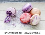 colorful macarons filled with... | Shutterstock . vector #262939568