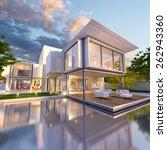 3d rendering of beautiful...   Shutterstock . vector #262943360