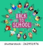 children cheerful education... | Shutterstock . vector #262951976