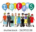ideas thinking concept... | Shutterstock . vector #262952138