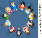 chidren kids concept | Shutterstock . vector #262952153