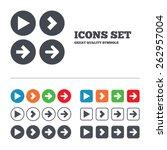 arrow icons. next navigation... | Shutterstock .eps vector #262957004