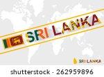 sri lanka map flag and text... | Shutterstock .eps vector #262959896