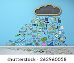 good weather for businesses.... | Shutterstock . vector #262960058