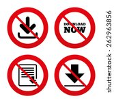 no  ban or stop signs. download ... | Shutterstock .eps vector #262963856