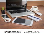 laptop  smartphone  tablet and... | Shutterstock . vector #262968278