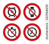 no  ban or stop signs.... | Shutterstock .eps vector #262968650