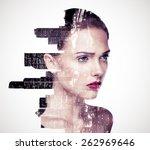 double exposure of a beautiful... | Shutterstock . vector #262969646