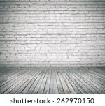 room interior with white brick... | Shutterstock . vector #262970150