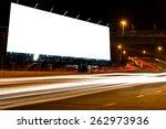 billboard blank for outdoor... | Shutterstock . vector #262973936