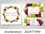 wedding invitation cards with... | Shutterstock .eps vector #262977590