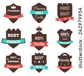 set of vector vintage badges.... | Shutterstock .eps vector #262979954