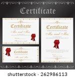 certificate template vector   Shutterstock .eps vector #262986113