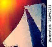 flue pipe plant  industrial... | Shutterstock . vector #262987193