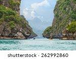 Yellow Kayak On Turquoise Sea...