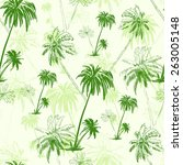 Palm Tree Green Pattern Over...