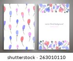 set of seamless pattern and... | Shutterstock .eps vector #263010110