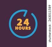 24 hours customer service. | Shutterstock . vector #263011589