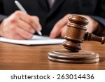 court  courtroom  law. | Shutterstock . vector #263014436