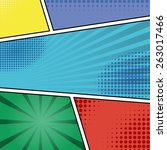 comics pop art style blank... | Shutterstock .eps vector #263017466