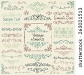 decorative vintage colorful... | Shutterstock .eps vector #263021513