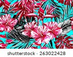 beautiful trendy seamless... | Shutterstock . vector #263022428