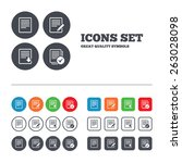 file document icons. download... | Shutterstock .eps vector #263028098