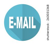 email blue flat icon   | Shutterstock . vector #263031368