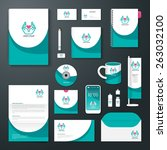 vector brochure  flyer ... | Shutterstock .eps vector #263032100