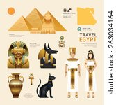Egypt Flat Icons Design Travel...