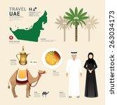 uae united arab emirates flat... | Shutterstock .eps vector #263034173
