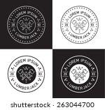 lumberjack label design | Shutterstock .eps vector #263044700