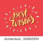 best wishes card. | Shutterstock .eps vector #263045354