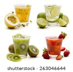 mojitos cocktail  delicious... | Shutterstock . vector #263046644