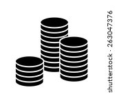 stack of coins icon | Shutterstock .eps vector #263047376
