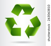 recycle symbol or sign of... | Shutterstock .eps vector #263063810