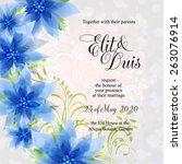wedding invitation card | Shutterstock .eps vector #263076914