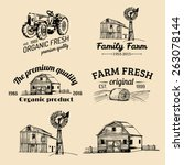 Vector Retro Set Of Farm Fresh...