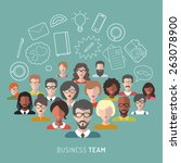 vector illustration of business ... | Shutterstock .eps vector #263078900