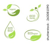 set of emblems  labels and... | Shutterstock .eps vector #263081090