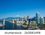 Stock photo beautiful view of vancouver british columbia canada 263081498